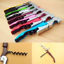 6 Colors Double Reach Corkscrew Bottle Opener Waiter's Friend Wine Opener