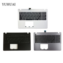 New Russian Laptop Keyboard for ASUS X550 K550V X550C X550VC X550J X550V A550L Y581C F550 R510L RU Palmrest Cover(China)