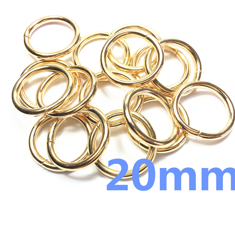 7-   20mm  Rose Gold Metal O Ring for ribbon Dee Webbing Belt Buckle Bag Non Welded