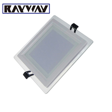 RAYWAY Dimmable LED Panel Light Recessed Square Glass Ceiling Lamp led Light Panel Brief Light Plate 6-18w Daily Indoor Lighting