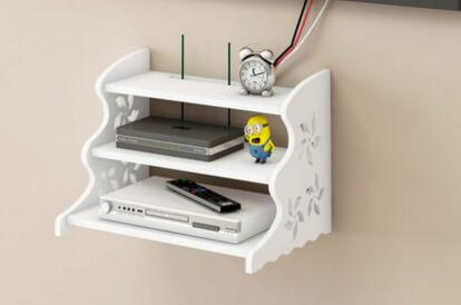 Set-top box carrying shelves. Creative free of punching the wall hanging routers receive stents.<br>