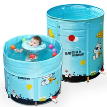 Newborn Baby Swimming Pool Child Kids Play Game Water Pool Alloy Large Inflatable Pool For Childrens Insulation Bath Tub C01(China)