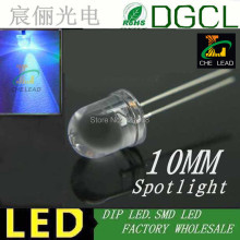 High brightness 10mm led bulb 465-475nm Blue round led diode 3.0-3.5V(CE&Rosh)(China)