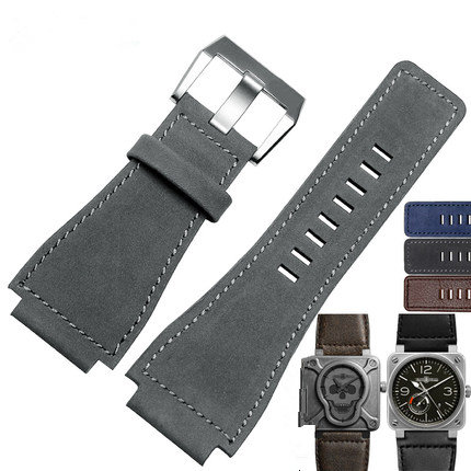 34mm*24mm New Men Lady Grey Blue Brown Wrist Watch Band Genuine Leather 3mm Thick Strap Belt Silver Black Pin Tongue Buckle<br><br>Aliexpress