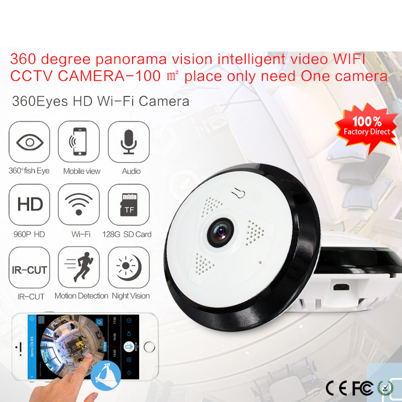 960P Wifi IP Camera Network Wireless HD Camera Baby Monitor CCTV Security Camera Support SD Card EC Network Panoramic Camera<br>