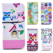 6SP Lovely owl series pu Leather Case for apple iphone 4S 5S 5C 6S 6 Plus 6s plus stand Wallet case for iPhone 6S Free Shipping(China)