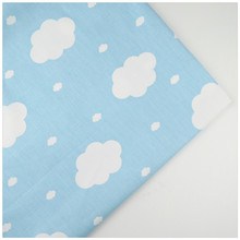 Syunss,100%Cotton Twill Fabric Blue Back Clouds Printed Patchwork DIY Handmade Curtain Textile Material Sewing Baby Toy Tissue(China)