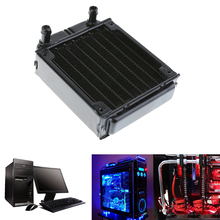 80mm Aluminum Water Cooling Radiator Heat Exchanger Computer PC Water Cooling System Part Accessories Straight Port(China)