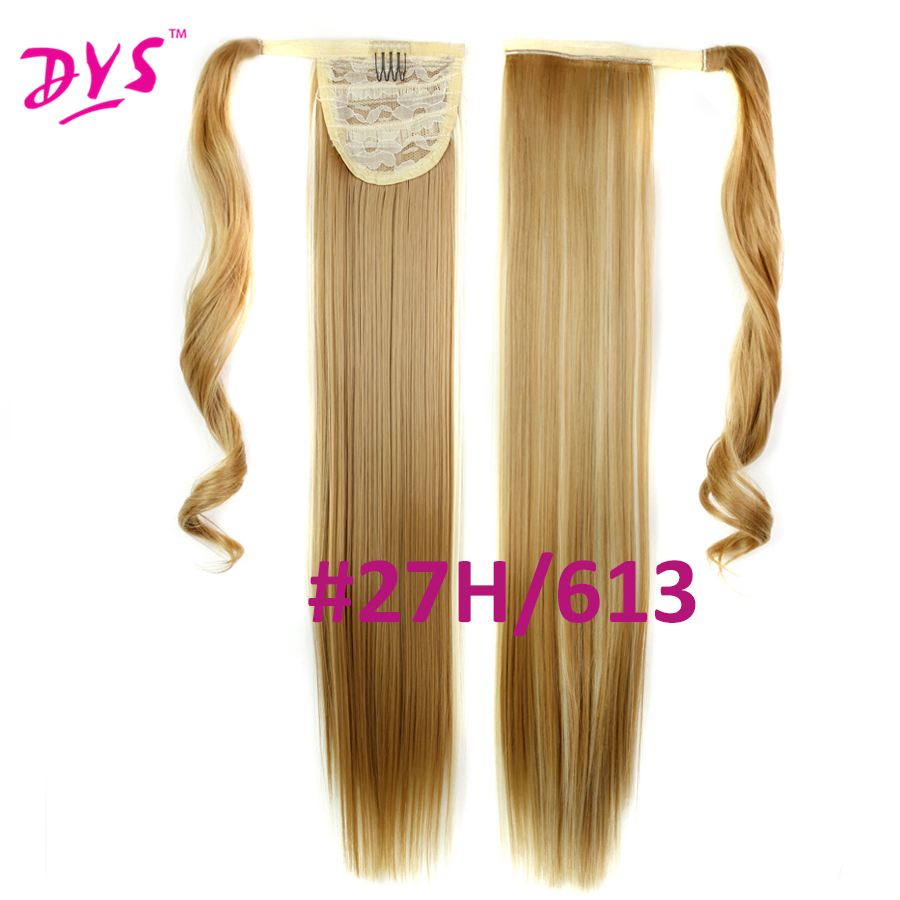 Deyngs 60cm Long Straight Clip In Hair Tail False Hair Ponytail Hairpiece With Hairpins Synthetic Hair Pony Tail Hair Extensions (8)