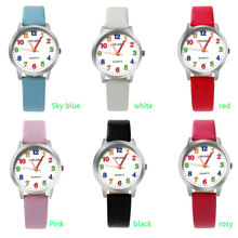 ot01 2017 Top Brand Kids Children Fashion Watches Quartz Analog Cartoon Leather Strap Wrist Watch Boys Girls(China)