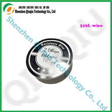 Newest Stainless steel 316L wire for Electronic cigarettes  atomizer coils 26ga 10m/roll free shipping