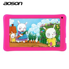 New 7 Inch Kids Children Tablet PC AOSON A33 Quad Core Android 4.4 Wifi Tablet 8G ROM 1024*600 HD Dual Camera With Silicone Case