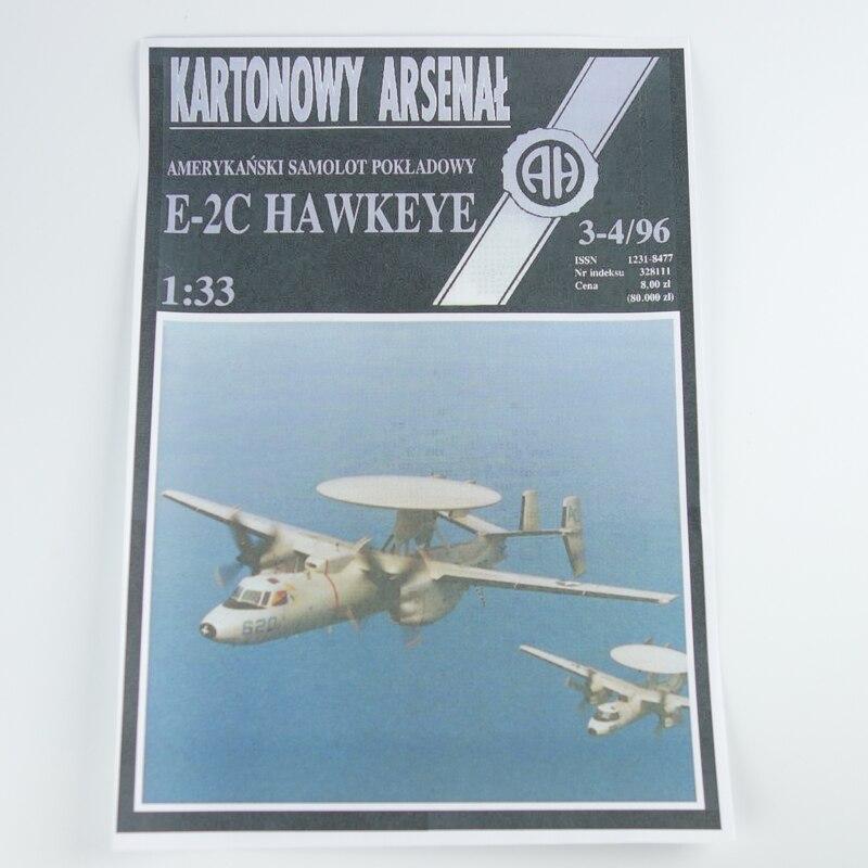 1:32 3D American Northrop Grumman E-2C Hawkeye Plane Aircraft Paper Model  Assemble Hand Work Puzzle Game DIY Kids Toy - us607