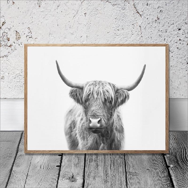 Bull poster print