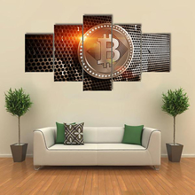 Buy Framework Living Room Wall Art Pictures HD Printed 5 Piece/Pcs Bitcoin Sheet Metal Modern Painting Canvas Home Decor Poster for $5.80 in AliExpress store