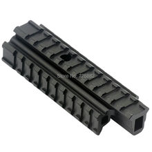 Hunting Tri Side Rail See Through Flat Top 20mm Weave Picatinny Rail Riser Base Carry Handle Rifle Mount Heavy Duty(China)