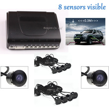 2017 Latest Dual Core CPU Car Parking Sensor 8 Reversing Radar System with car Rear view Camera and car front camera Sound Alert