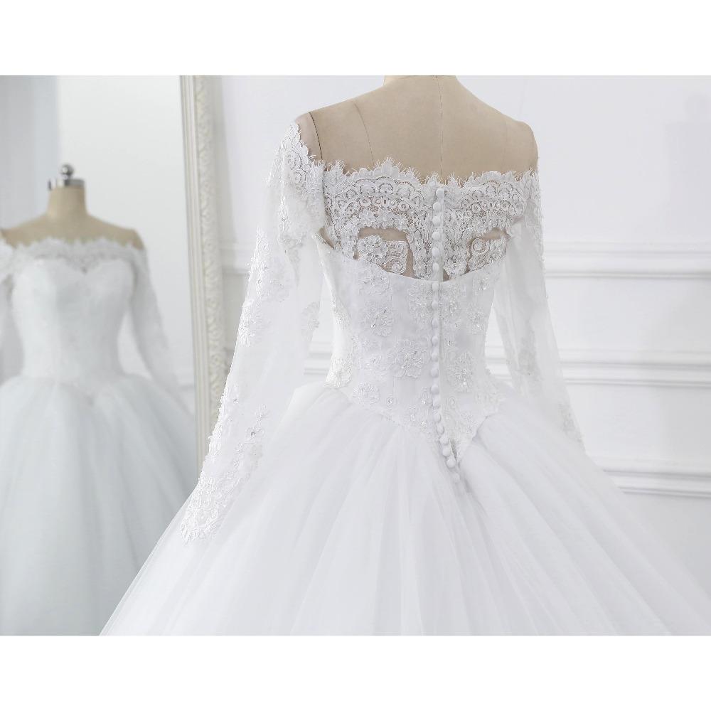 Lover Kiss Vestidos de Noiva Ball Gown Wedding Dress Long Sleeves Wedding Dresses Tulle Vestido de Noiva Casamento Mariage Boda 8
