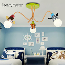 Creative cartoon children's room bedroom ceiling lamp boy girl room baby lamp eye care nursery lamp Postage free