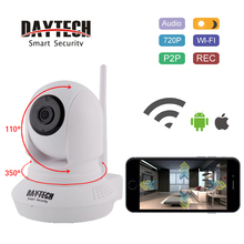 Daytech WiFi IP Camera Home Security Camera Wi-Fi Two Way Intercom 720P Night Vision CCTV Surveillance Monitor Pan Tilt DT-C8819