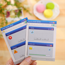 1pc diy creative memo pad sticky note computer system pattern Post-it school office supplies stationery wholesale