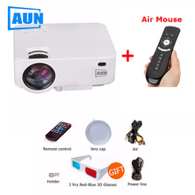 AUN proyector Full HD tv led 3D Projector Home Theater cinema data show Support 1080p android Wifi system bluetooth Beamer