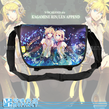 2015 Cartoon Kagamine Rin Len messenger bag mirror twins shoulder bag color block messenger bag