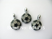 20pcs rhinestone soccer/football Hang Pendant Charm Fit Diy Phone Strips Wristband & Necklace HC363