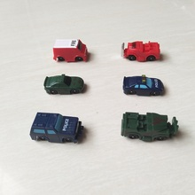 30Pcs/lot SQUINKIES Cartoon Cars Fire Truck Policy Car Military Vehicle Toys Size 4cm Mixed In Random