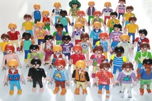 Wholesale 30-100 Pcs bulks Germany Playmobil toy action figure blocks randomly kids toys gift collection TOY(China)