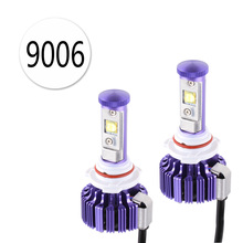 2PCS 60W 6,000Lm HB4 9006 Cree Chips LED Headlight Bulbs Conversion Kit - DIY your Color - Replaces Halogen and Xenon HID Bulbs