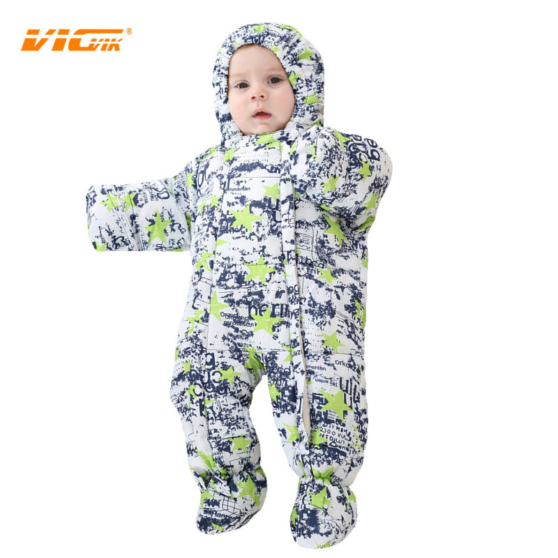 VICVIK Brand Winter Newborn Baby Boys Thick Rompers Baby Clothing Jumpsuit Baby Boy Girl Warm Romper Baby Cloth 2017 Down Cotton<br><br>Aliexpress