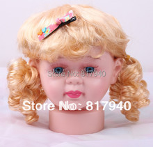 HOT SALE!High quality Unbreakable Realistic Plastic baby/kid mannequin dummy head with wig  for hat display manikin heads
