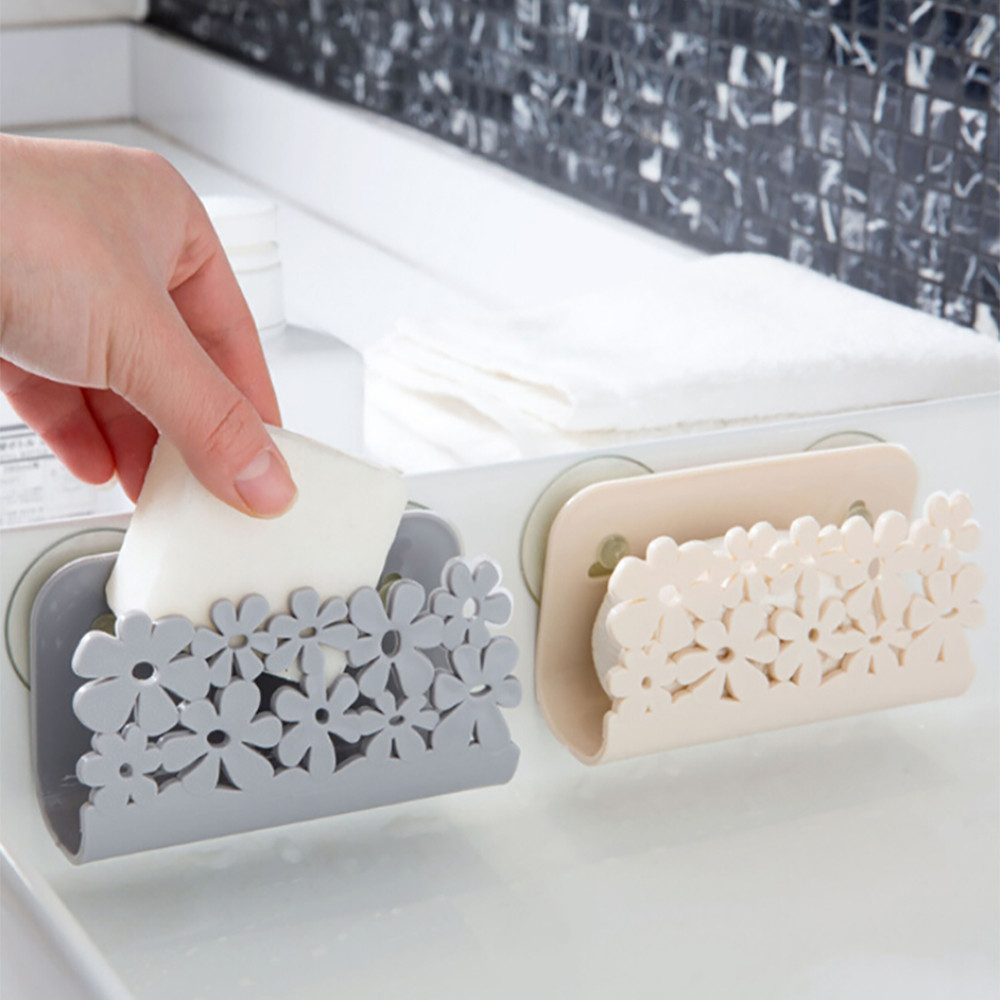 Holder Rack Scrubbers Dish-Cloths Soap-Storage Suction-Sponges-Holder Toilet-Sink Bathroom title=