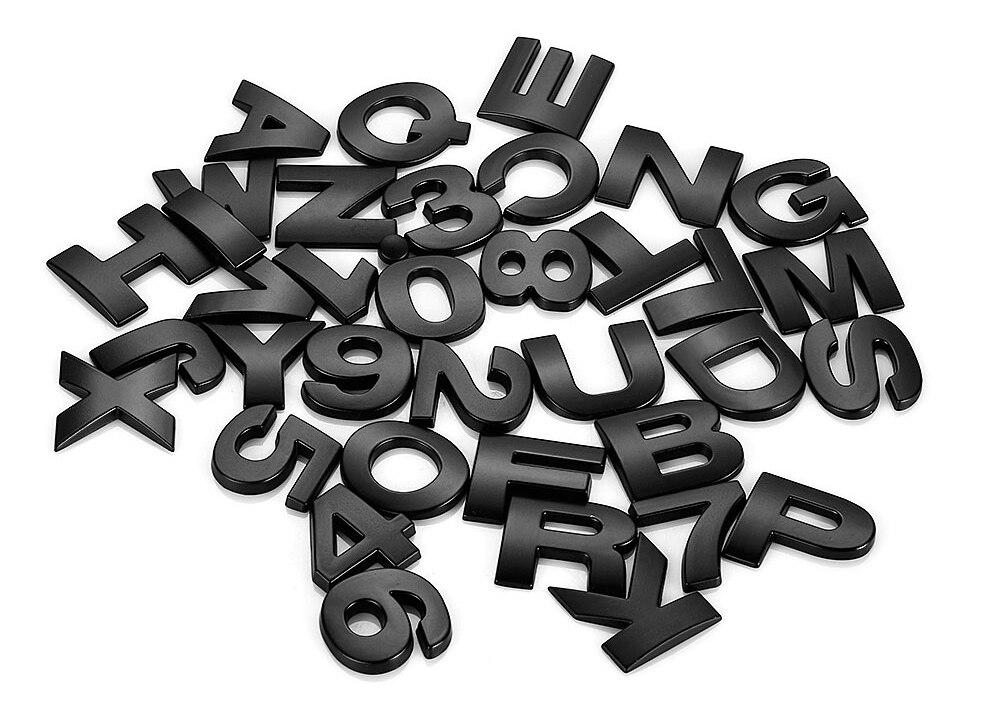 HTB1z2gLX JYBeNjy1zeq6yhzVXae - 25mm Car Auto Chrome Metal DIY 3D ARC Letters Digital Alphabet Emblem