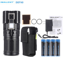 Rechargeable Flashlight IMALENT DDT40 6*CREE LED max. 4200 lumen + 1180LM OLED Torch camping light + 4pcs 18650 batteries