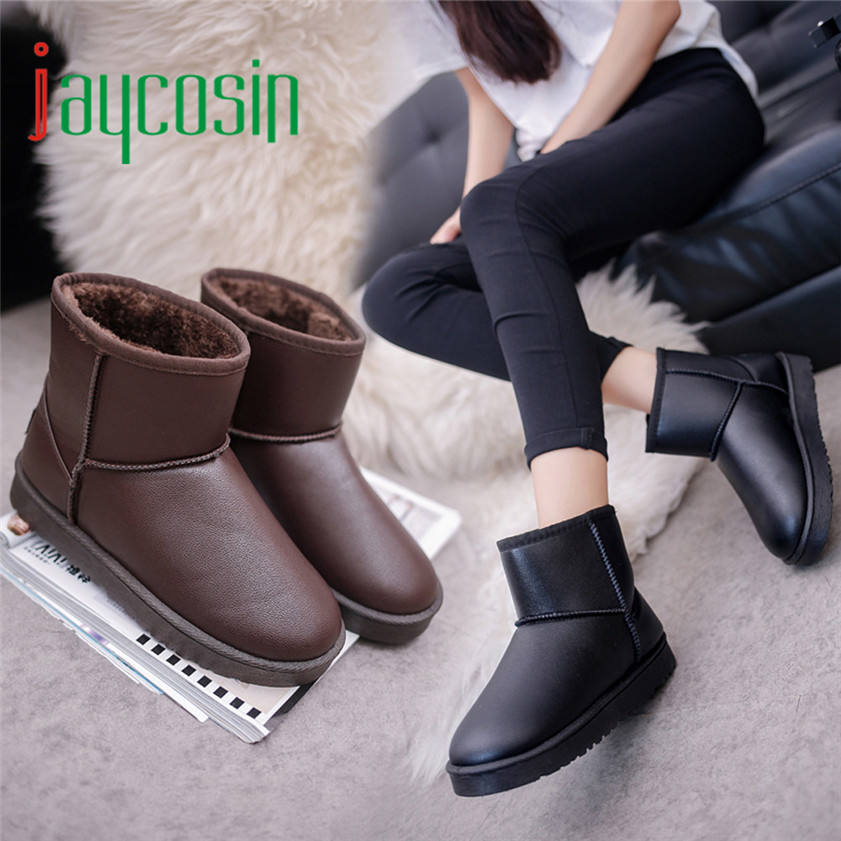 High quality Women Boot Flat Ankle Fur Lined Winter Warm Snow Shoes cotton Shoes 170210<br><br>Aliexpress