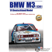 OHS Aoshima 09819 1/24 Beemax M3 E30 91 Deutschland Year Champion 2 Decal in 1 Set Scale Assembly Car Model Building Kits