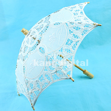 Japanese Chinese Umbrella Art Deco Painted 25cm Lace Parasol Umbrella Embroider For Wedding Decorate(China)