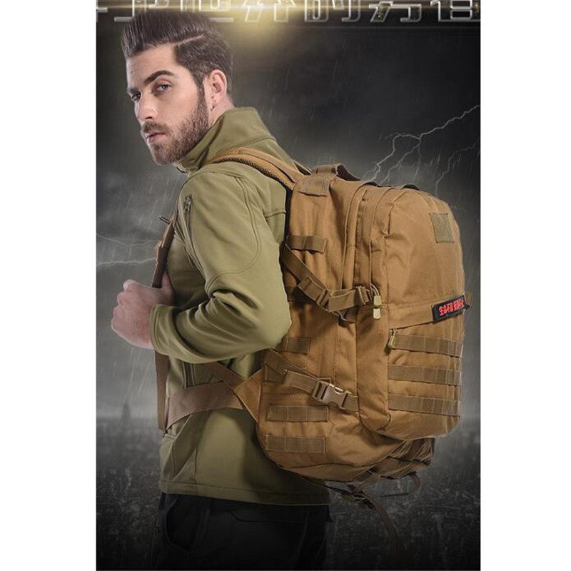3 d backpack male High quality female nylon 40 l travel bag camouflage military 17-inch computer School bag Fashion Mens bags<br>