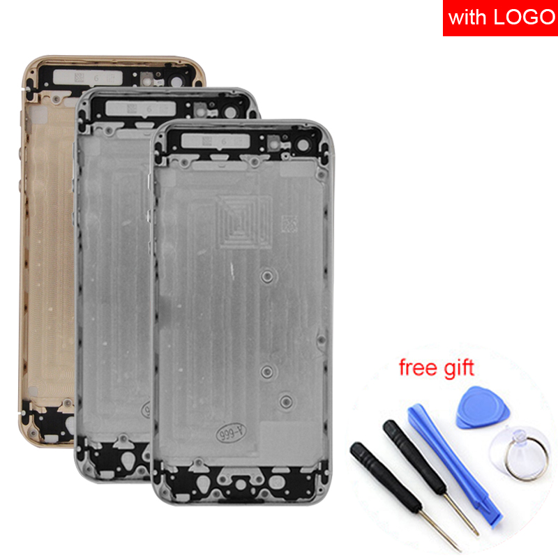 New Back Housing Cover For Apple iphone 5 5G 5S phone Replacement Parts Battery Cover gold silver Gray +Repair tools(China)