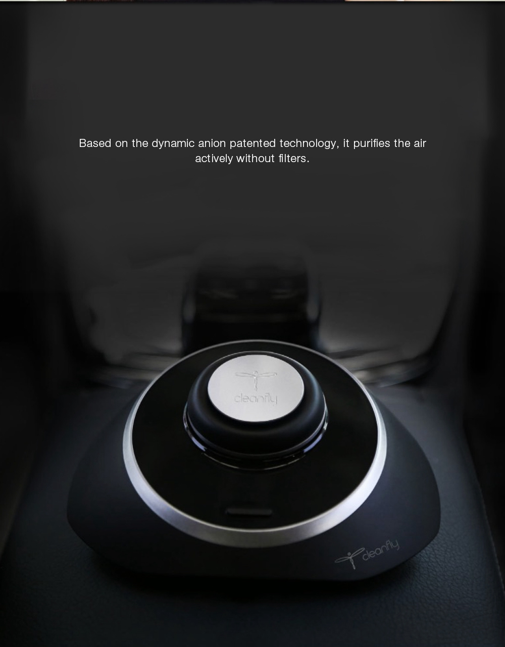 New original Xiaomi Mijia Cleanfly M1 Car Anion Air Purifier LED Display Mute Portable Purifier Support Parking Purification USB (7)