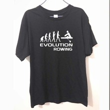 New Summer Funny Evolution Of Rowing Rowers T Shirt Men Cotton Short Sleeve T-shirt Tshirt camiseta(China)