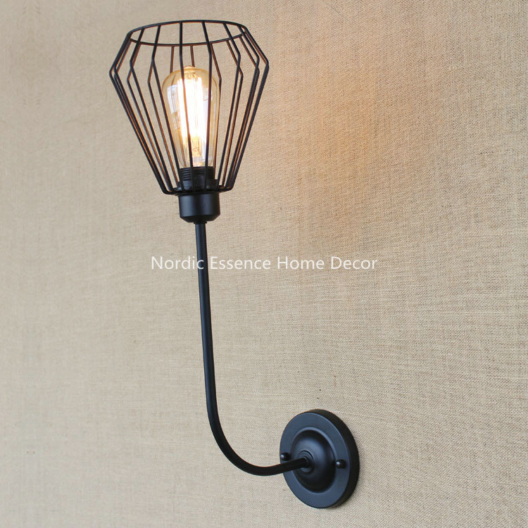 Creative American country antique bedside hob elbow Continental bedroom living room balcony hallway stairs single head wall lamp<br><br>Aliexpress