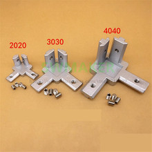 4pcs 3D printer 2020 3030 4040 T Slot Aluminum Profile 3-way 90 deg inside corner bracket Interior Connector f/ Alu-profile