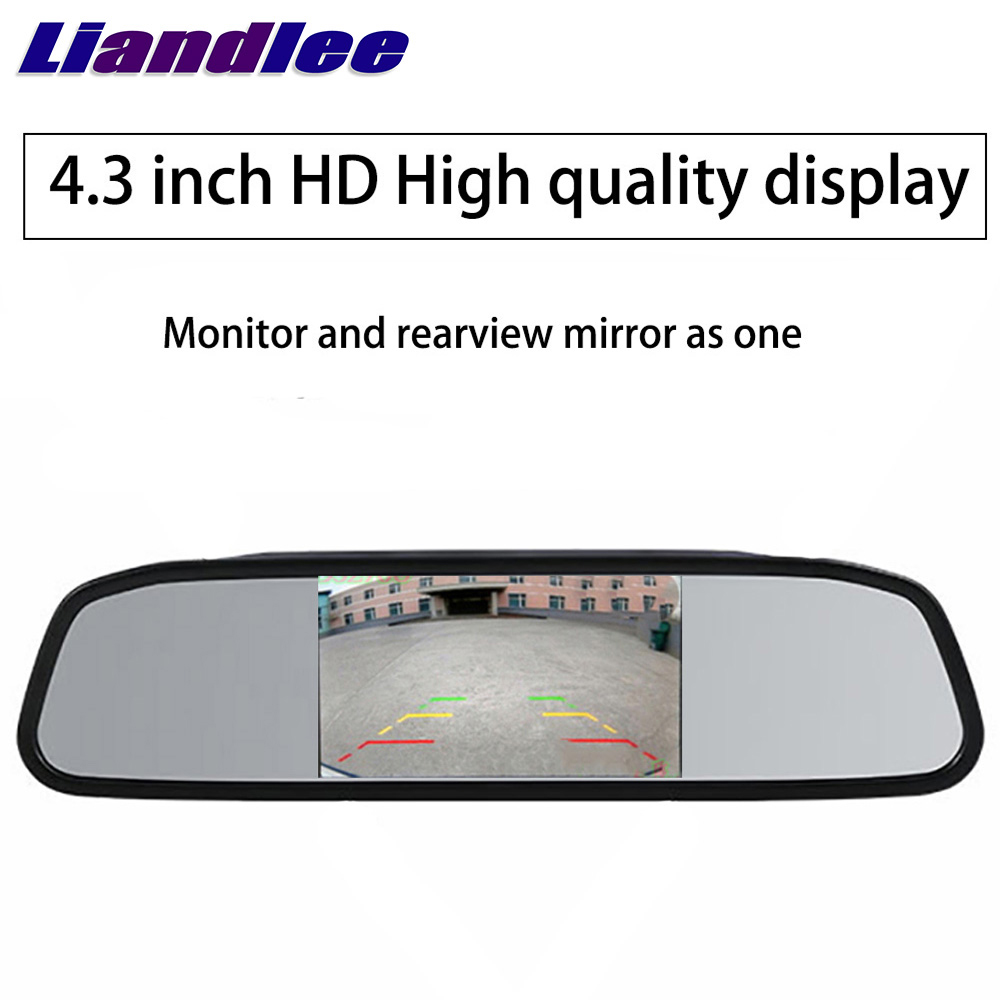Liandlee 4.3inch Universal HD Car Rearview Mirror Display LCD Digital DVD VCD Car Rearview Mirror Display Monitor video input (4)