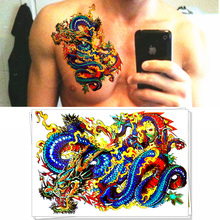 M-theory   Chinese dragons Temporary Tatoos Body Art Flash Tattoos Sticker 21*15cm  Fake    Tattoo Sticker Swimsuit Dress Makeup
