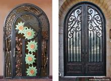 Custom design forged  wrought Iron front  doors iron doors iron entry doors h-wid5