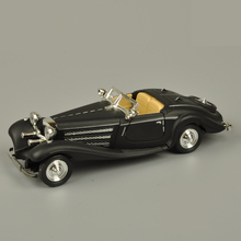 1:28 Benz 500K Alloy Model Car Classic Retro Mini Collective car Model Toy Pull back Acousto-optic(China)