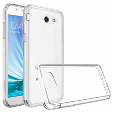 2017 TPU PC Transparent Crystal Clear Hard Hybrid Cover Case for Samsung Galaxy J3 Emerge Mobile phone cases Back Cover Capa